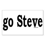 go Steve Rectangle Sticker