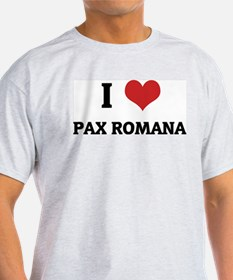 I Love Pax Romana Ash Grey T-Shirt