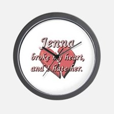 Jenna broke my heart and I hate her Wall Clock