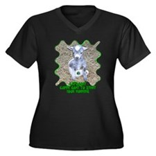 CafeGoat Women's Plus Size V-Neck Dark T-Shirt