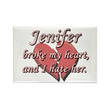 Jenifer broke my heart and I hate her Rectangle Ma