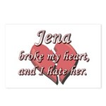 Jena broke my heart and I hate her Postcards (Pack