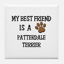 My best friend is a PATTERDALE TERRIER Tile Coaste