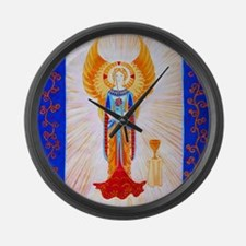 Angel With Rose Large Wall Clock