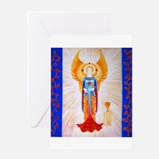 Angel With Rose Greeting Card