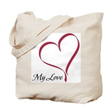 My Love Heart Tote Bag