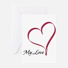 My Love Heart Greeting Cards (Pk of 10)