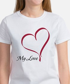 My Love Heart Women's T-Shirt