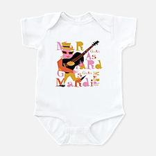 Mardi Gras Guitar Lady Infant Bodysuit