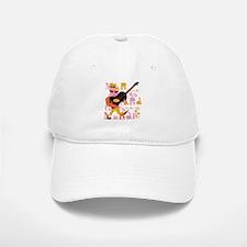 Mardi Gras Guitar Lady Baseball Baseball Cap