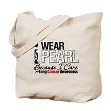 Lung Cancer I Care Tote Bag