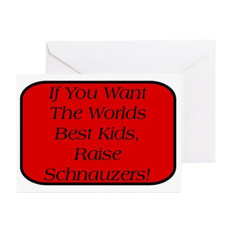 Black Miniature Schnauzer Greeting Cards (Pk of 10