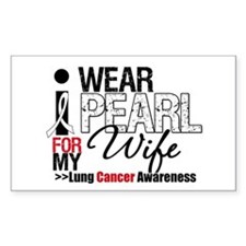 Lung Cancer Wife Rectangle Decal