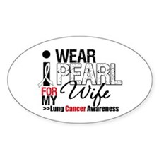 Lung Cancer Wife Oval Decal