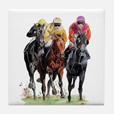 Unique Horse racing Tile Coaster