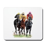 Horse racing Mouse Pads