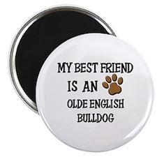 My best friend is an OLDE ENGLISH BULLDOG Magnet