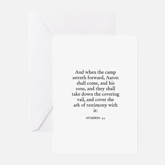 NUMBERS  4:5 Greeting Cards (Pk of 10)