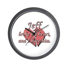 Jeff broke my heart and I hate him Wall Clock