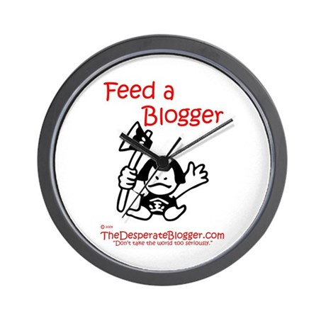 Feed a Blogger Wall Clock