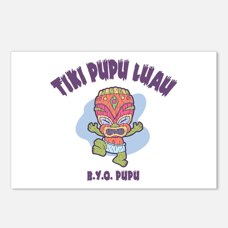 Tiki Pupu Luau Postcards (Package of 8)