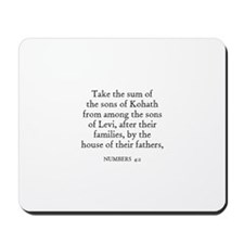 NUMBERS  4:2 Mousepad