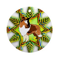 Collie Christmas Ornament (Round)