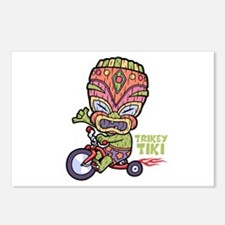 Trikey Tiki Postcards (Package of 8)