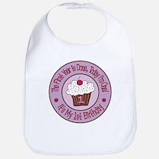 First Birthday Cupcake Bib