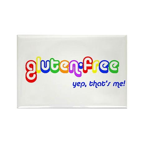 gluten-free, yep that's me! Rectangle Magnet (10 p