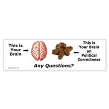 Your Brain Bumper Bumper Sticker