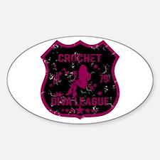 Crochet Diva League Oval Decal