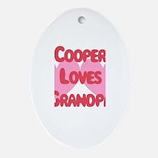 Cooper Loves Grandpa Oval Ornament