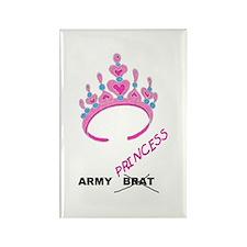 Army Brat/Princess Rectangle Magnet