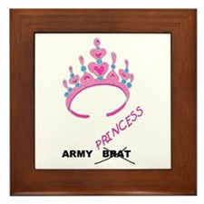 Army Brat/Princess Framed Tile