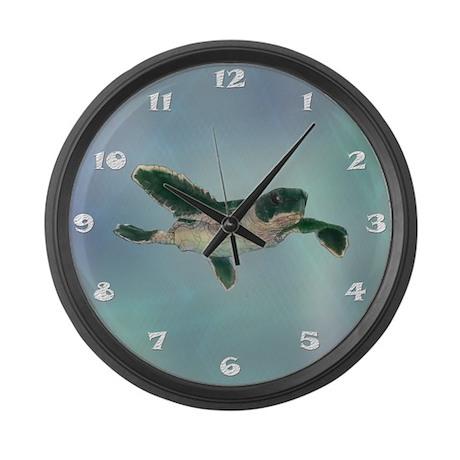 Baby Sea Turtle Large Wall Clock