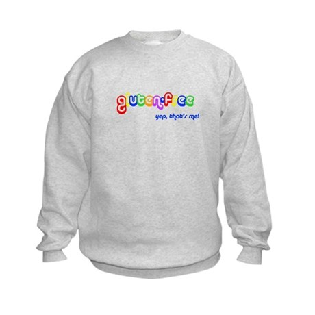 gluten-free, yep that's me! Kids Sweatshirt