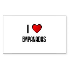 I LOVE EMPANADAS Rectangle Decal