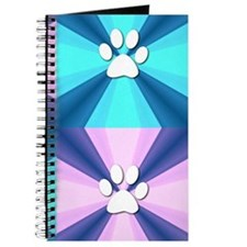Purple Blue Paw Print Journal
