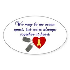 Oceans Apart Oval Decal