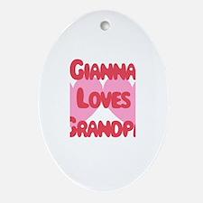 Gianna Loves Grandpa Oval Ornament