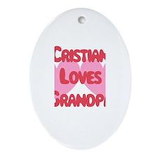 Cristian Loves Grandpa Oval Ornament