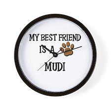 My best friend is a MUDI Wall Clock