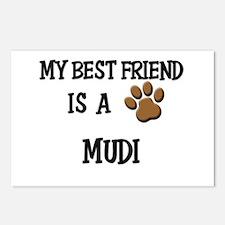 My best friend is a MUDI Postcards (Package of 8)