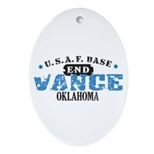 Vance Air Force Base Oval Ornament