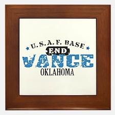 Vance Air Force Base Framed Tile