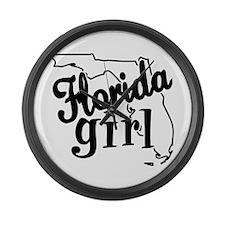 Florida Girl Large Wall Clock