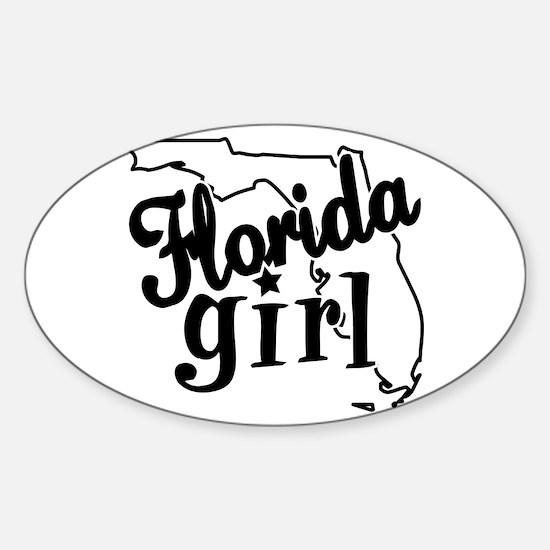 Florida Girl Oval Decal