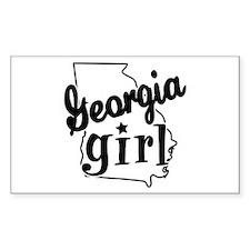 Georgia Girl Rectangle Decal