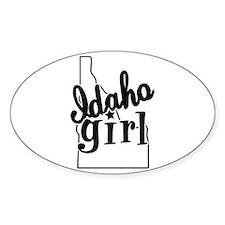 Idaho Girl Oval Decal